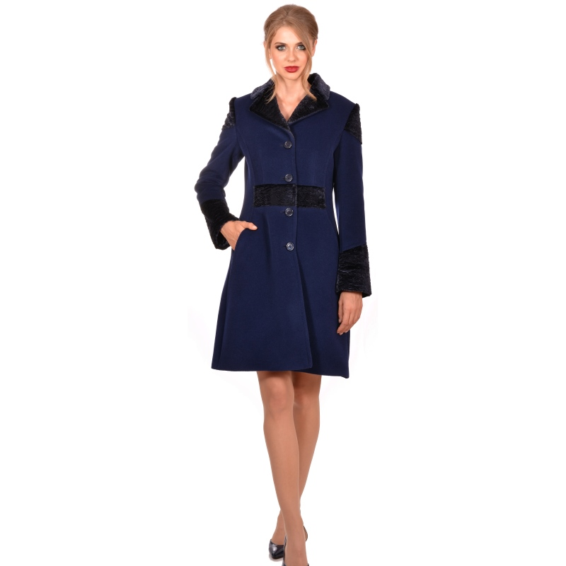 LADY M Womens dark blue winter coat - LADY M  Marija modna odjeća - Maria Fashion company - Collection Autumn/Winter 2018-19
