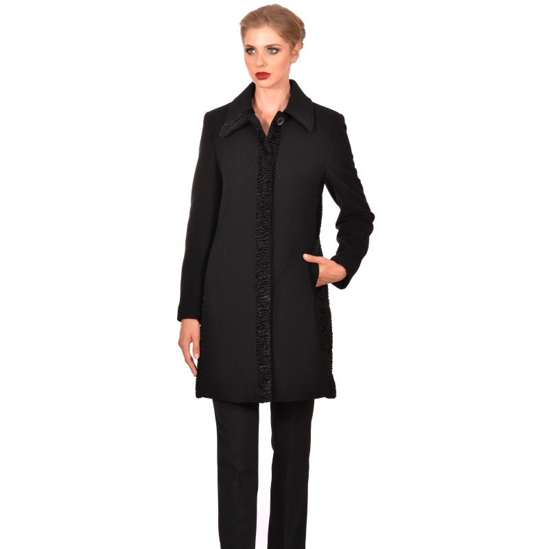 Womens short elegant classic coat made of wool - M WOMAN Marija modna odjeća - Maria Fashion company - Collection Autumn/Winter 2018-19
