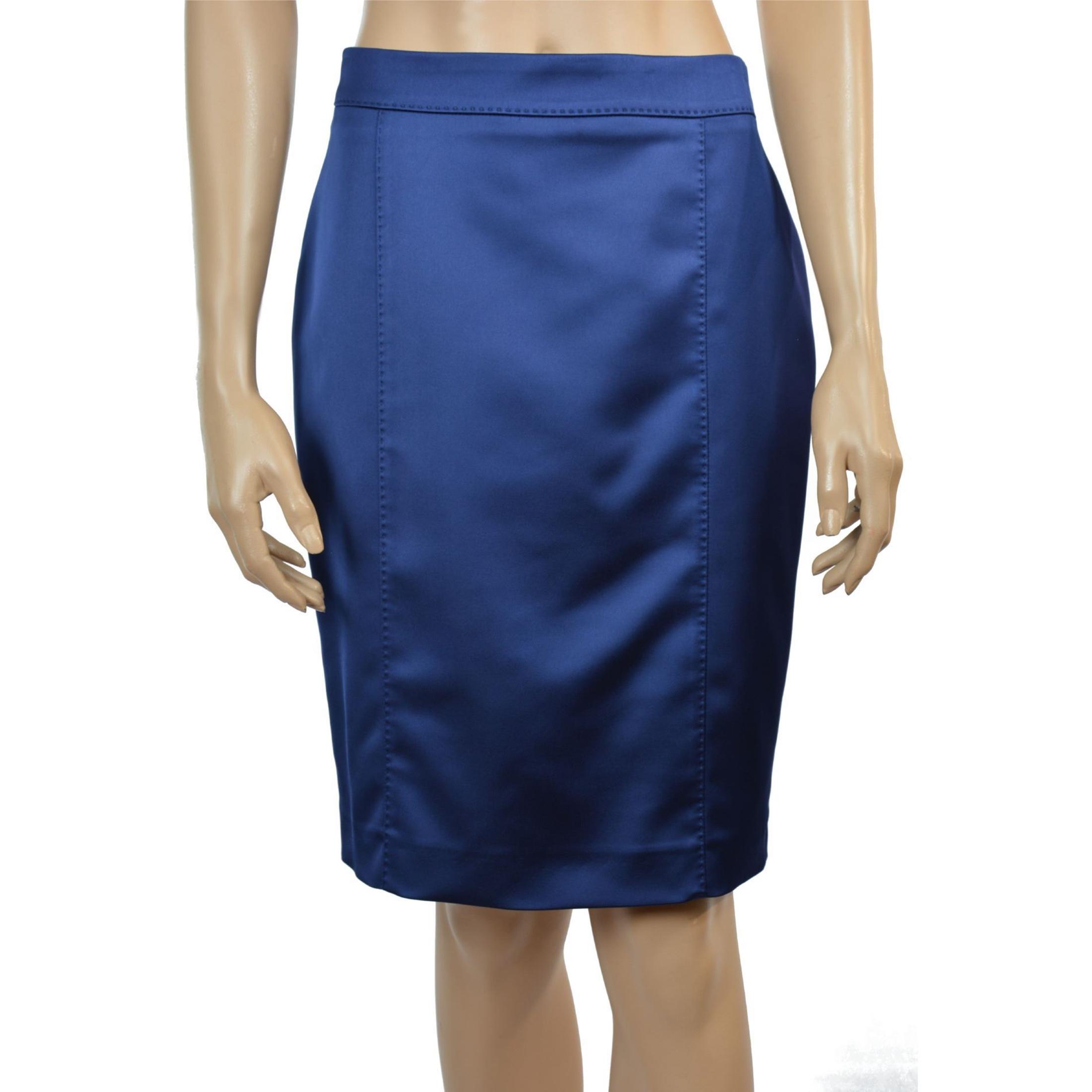 lady m plava suknja