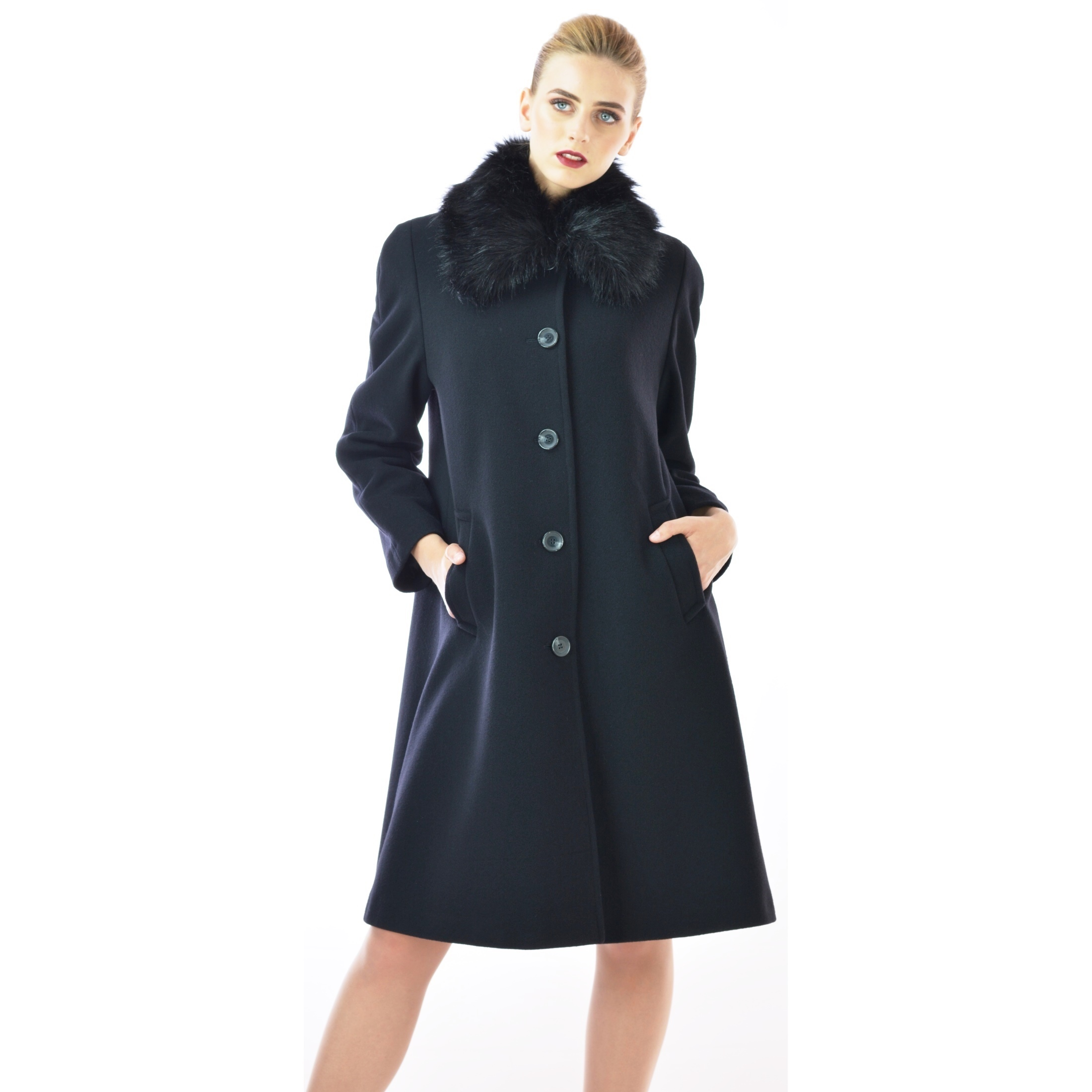 Picture of Women's Coat - M60129 BLACK