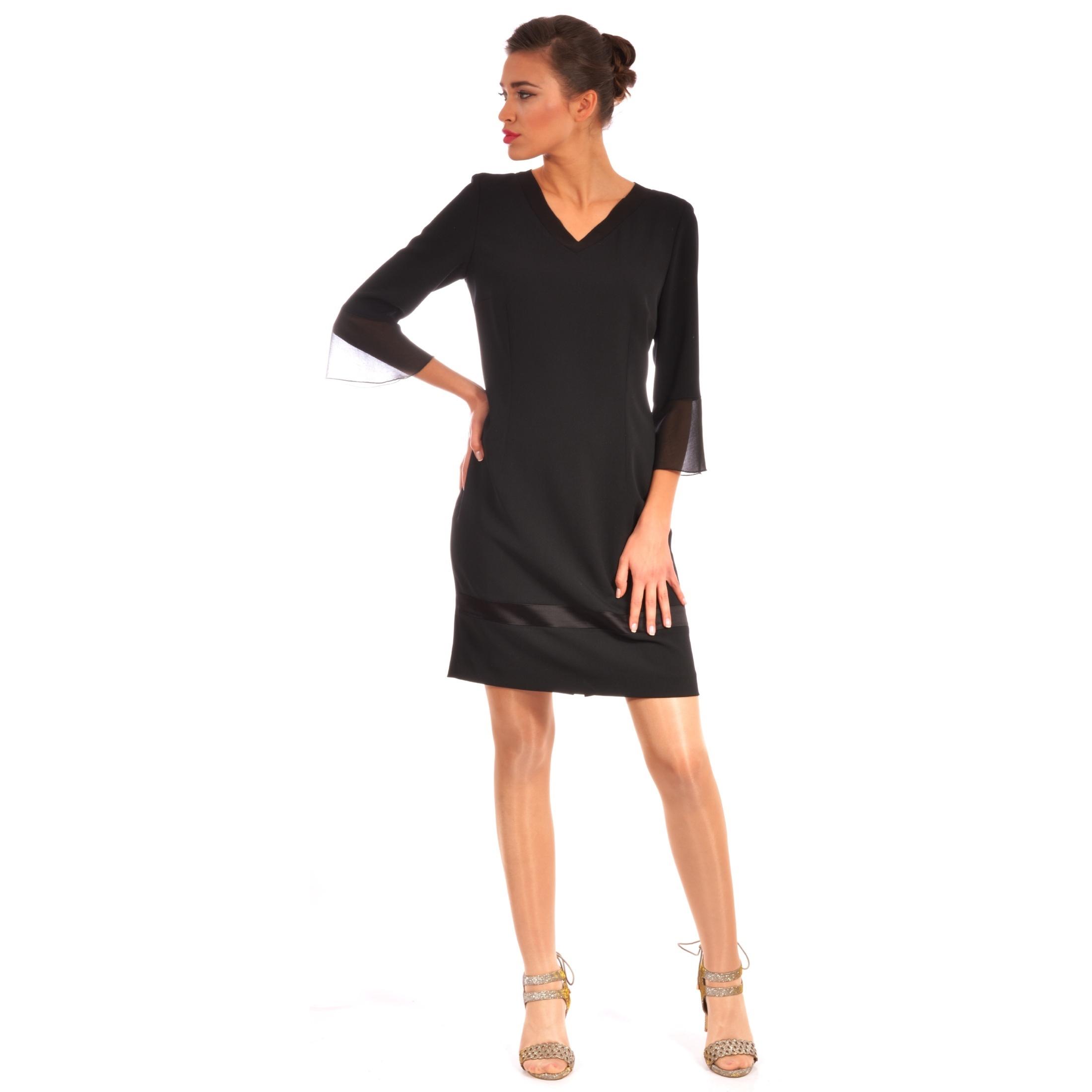 lady m black dress,crna haljina za žene