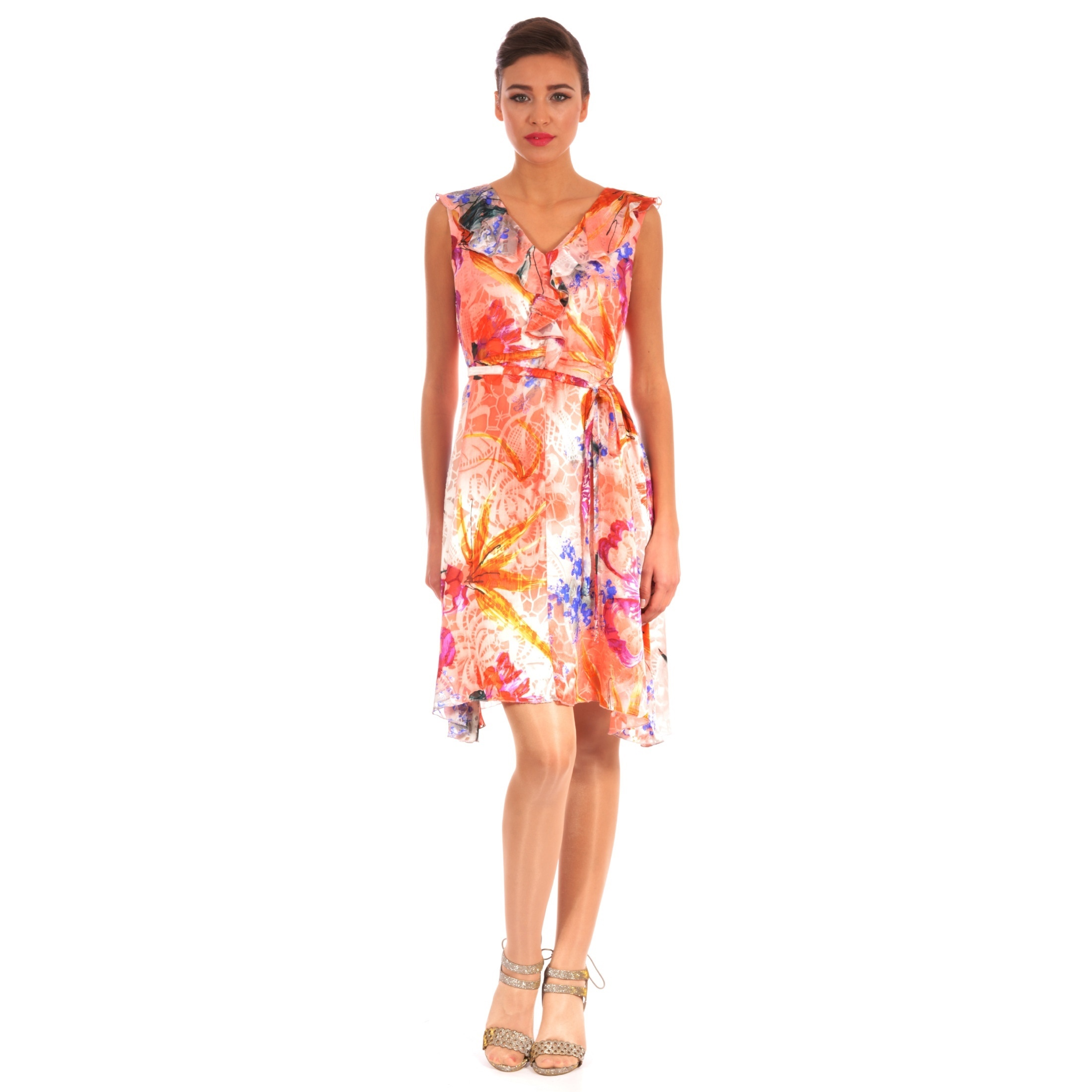 beautiful women's light flowered dress, prekrasna cvijetna ljetna haljina lady m