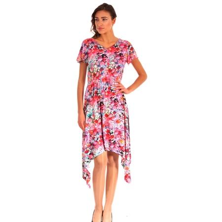 women's coloured dress for spring summer, ženska šarena haljina lady m iz kolekcije proljeće-ljeto