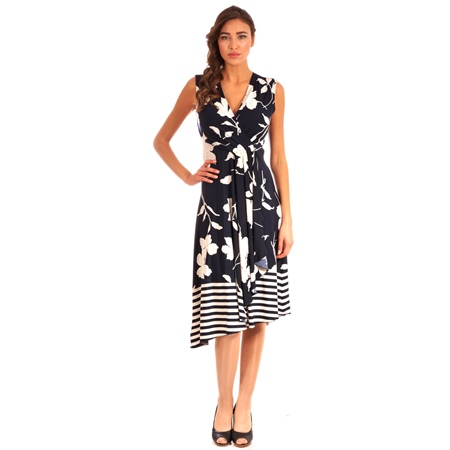 plavo-bijela haljina lady m iz sezone proljeće-ljeto, lady m blue-white dress from spring-summer collection
