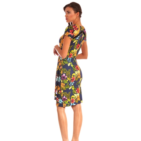 women's flowered dress lady m for spring-summer, lady m haljina sa cvijetovima za proljeće-ljeto
