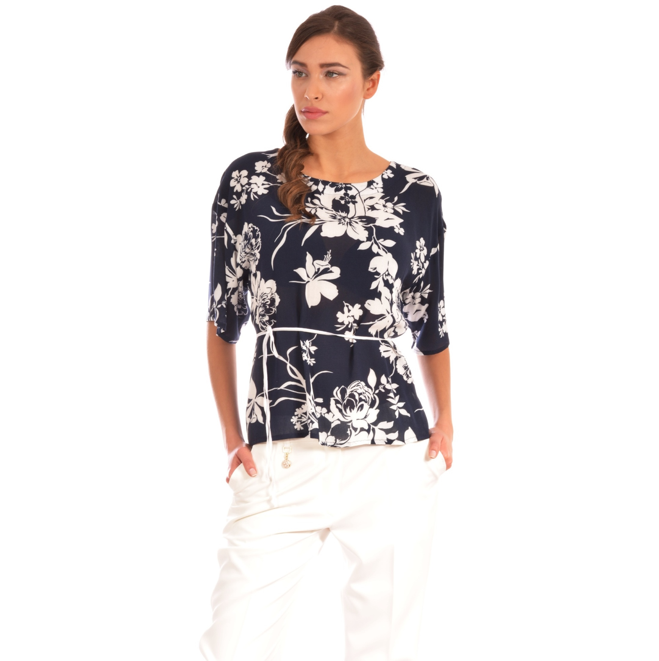 lady m blue women's top, ženski plavi top lady m