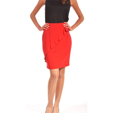 women's red skirt lady m, ženska crvena suknja lady m