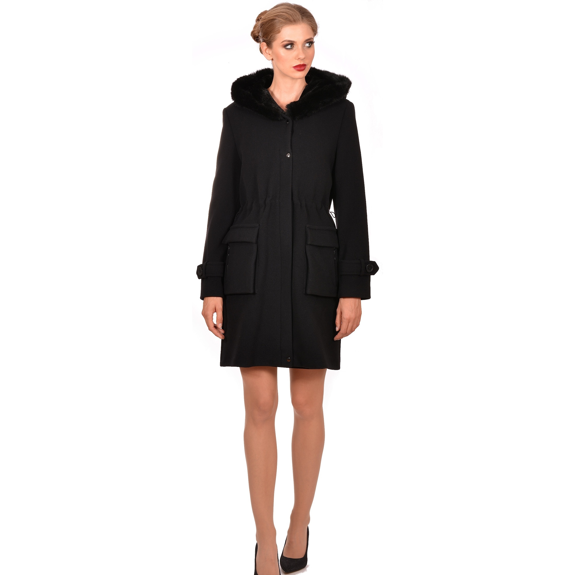 ženski kaput lady m crni,women's coat lady m black