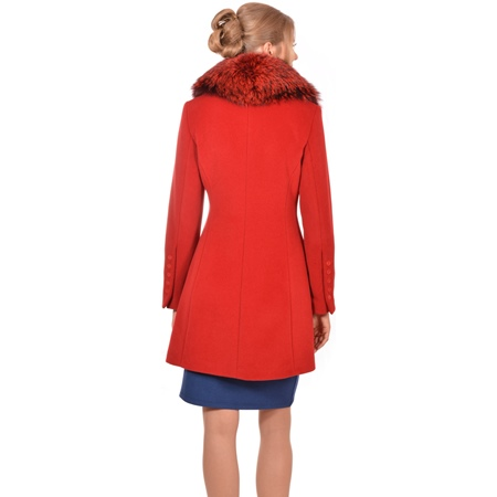 short red coat lady m,crveni kratki kaput lady m