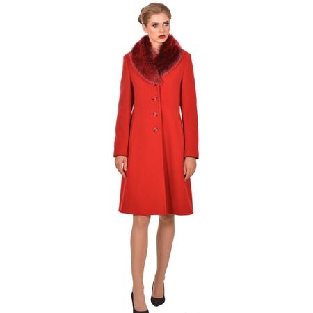 ženski crveni kaput duži