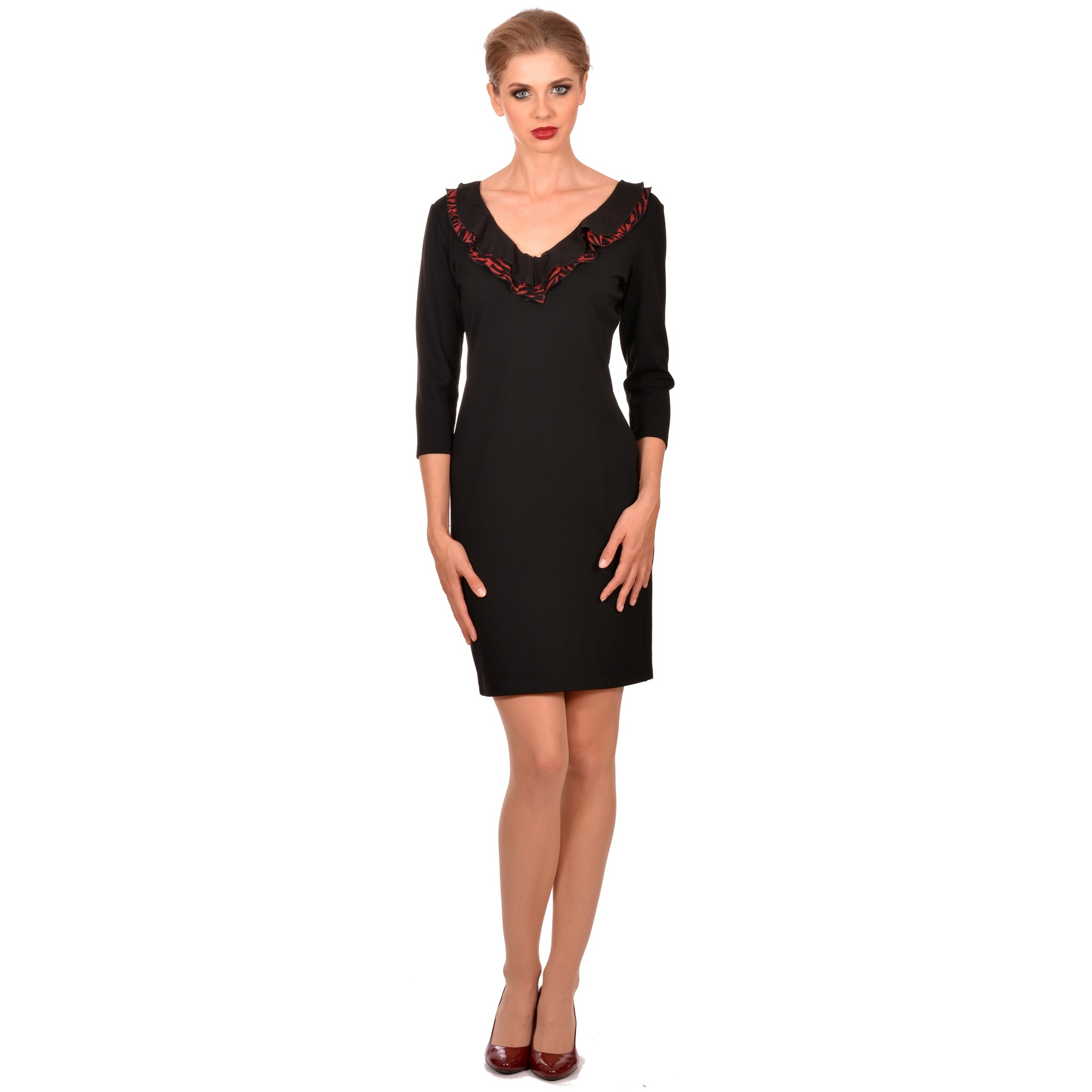 crna ženska haljina lady m,black dress lady m by maria fashion