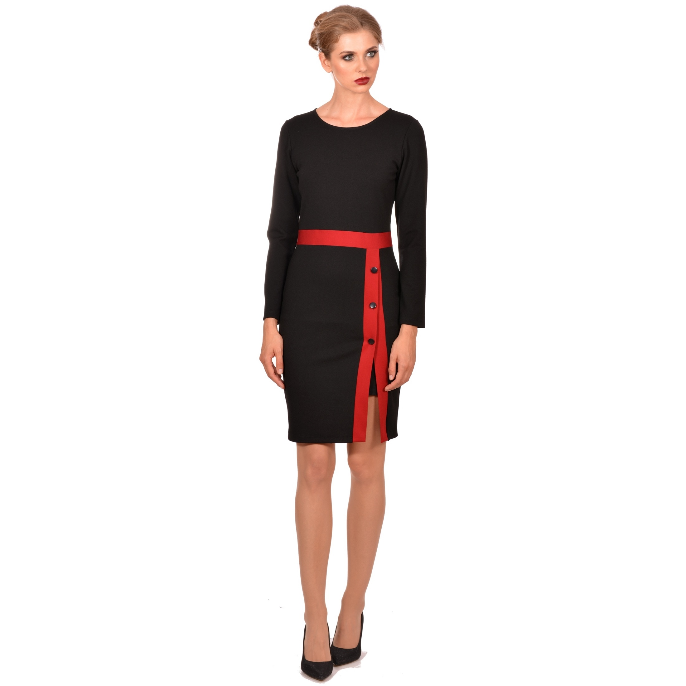 ženska crna haljina, women's black dress,modern dress