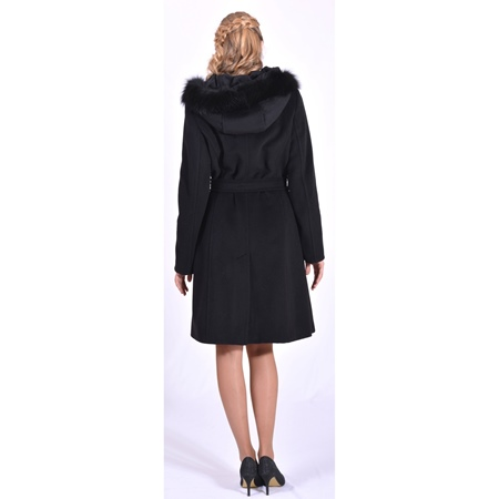 black lady m coat wool alpaca, crni kaput vuna alpaka
