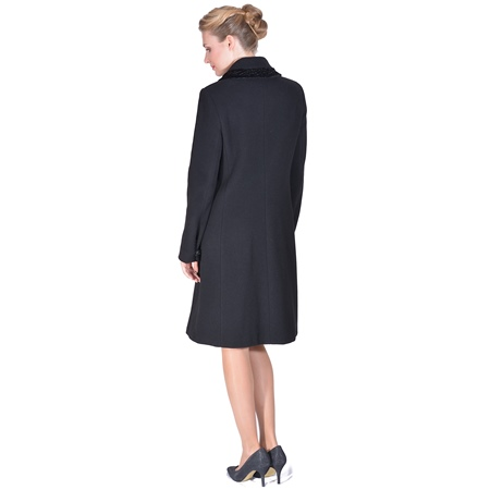 women's coat,m woman coat,black coat,classic coat