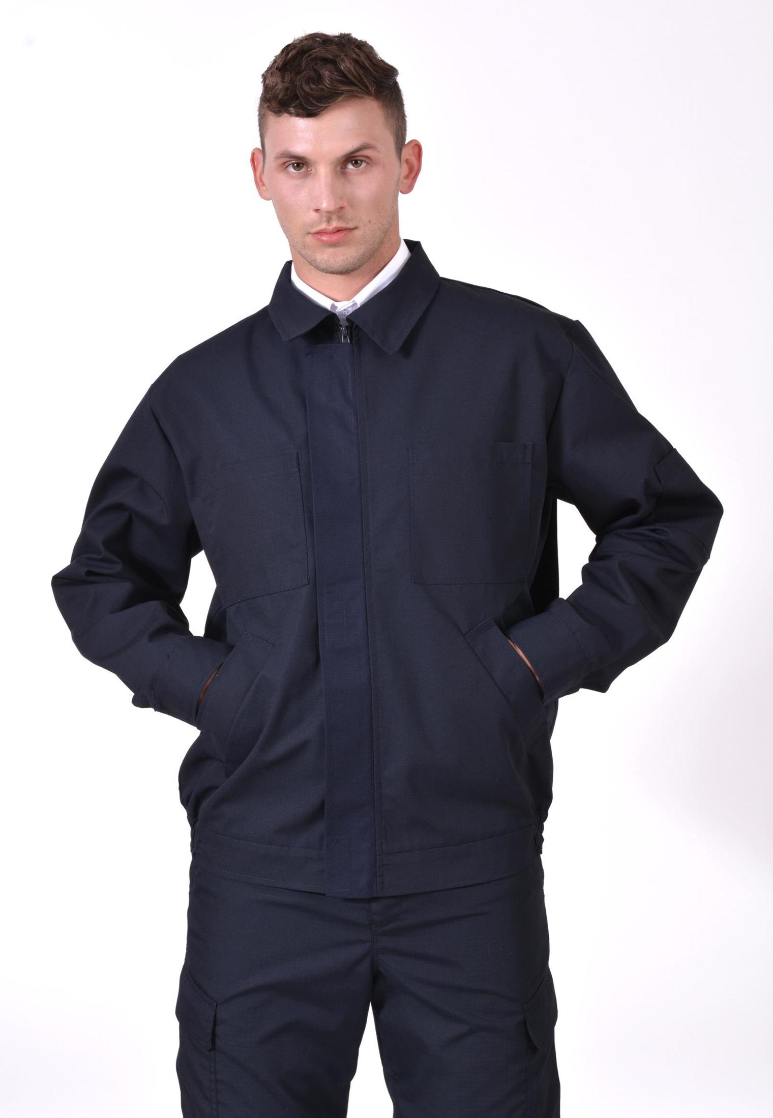 muška vatrogasna twill hardshell jakna s reflektirajućim paspulima, vodonepropusna, vjetronepropusna, men's firefighter jacket with reflective piping, twill hardshell