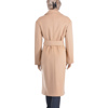 Casual coat with belt, wide collar, back side with slit